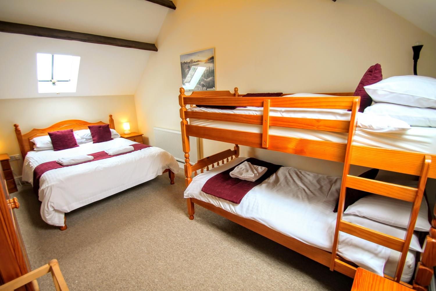 Double and bunk bed accommodation at Yenworthy Mill