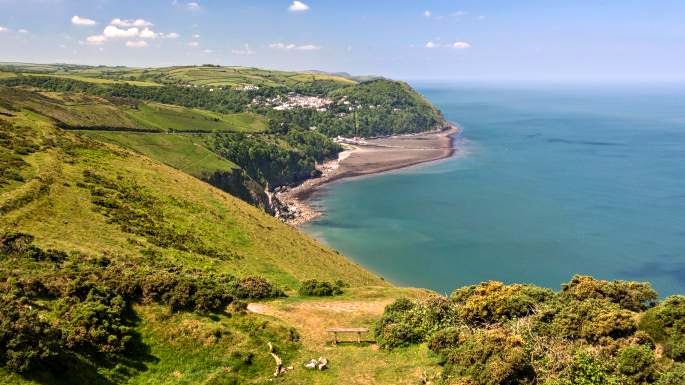 Views from Countisbury looking west along the North Devon coastline