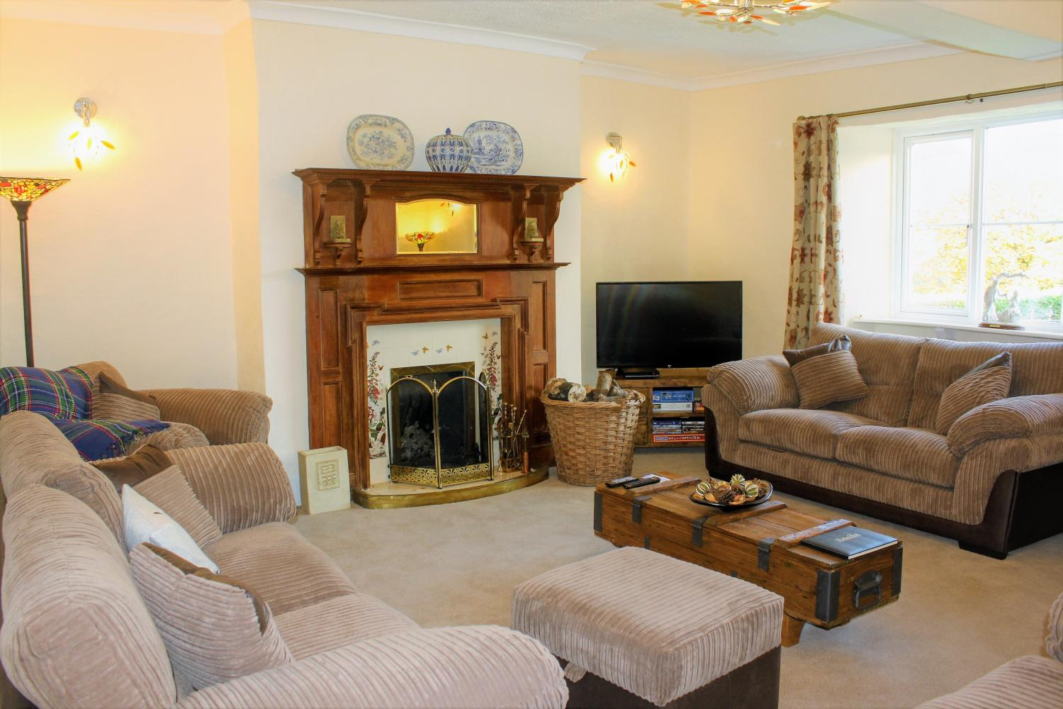 upcott farm house holiday group accommodation sitting room