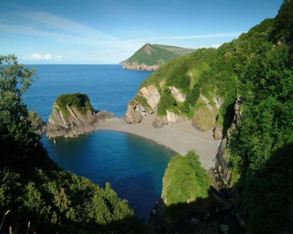 The beautiful Watermouth Cove, a stunning holiday destination in the UK.
