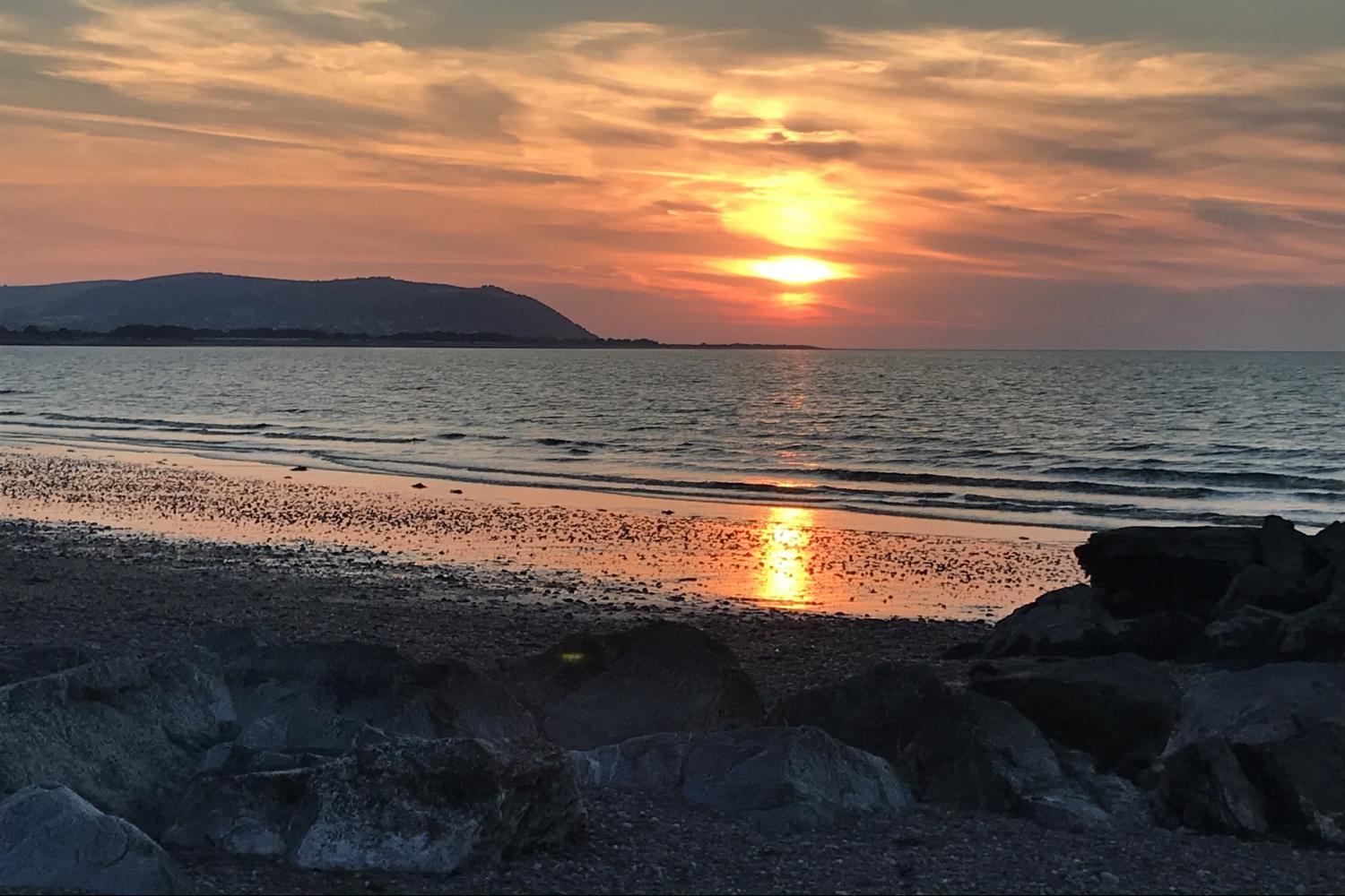 Beautiful sunset looking towards Minehead