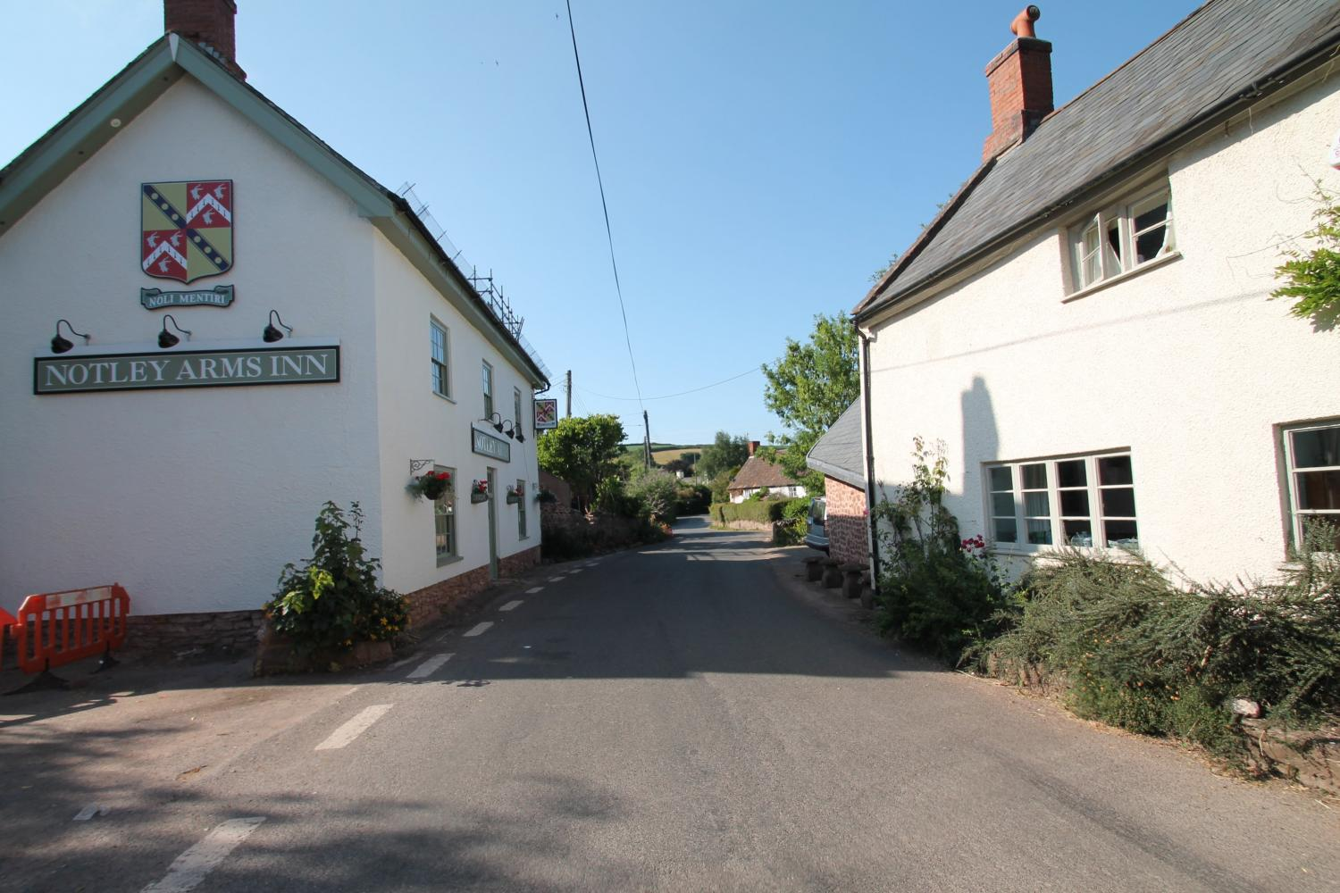 Monksilver village and local pub