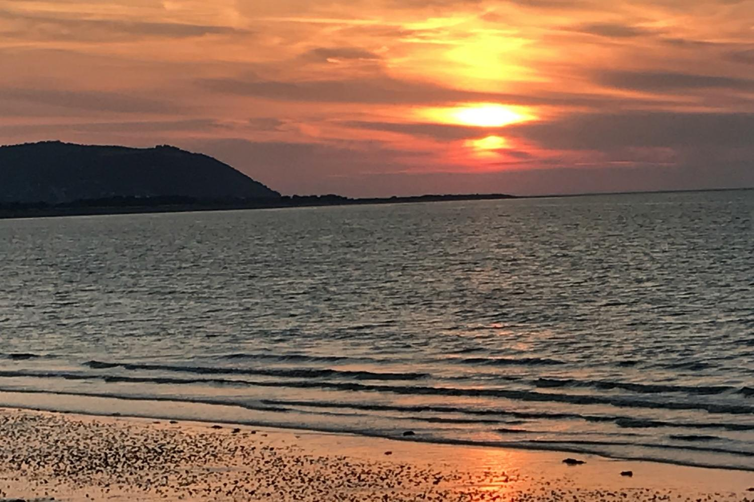 Sunset at nearby Blue Anchor Bay