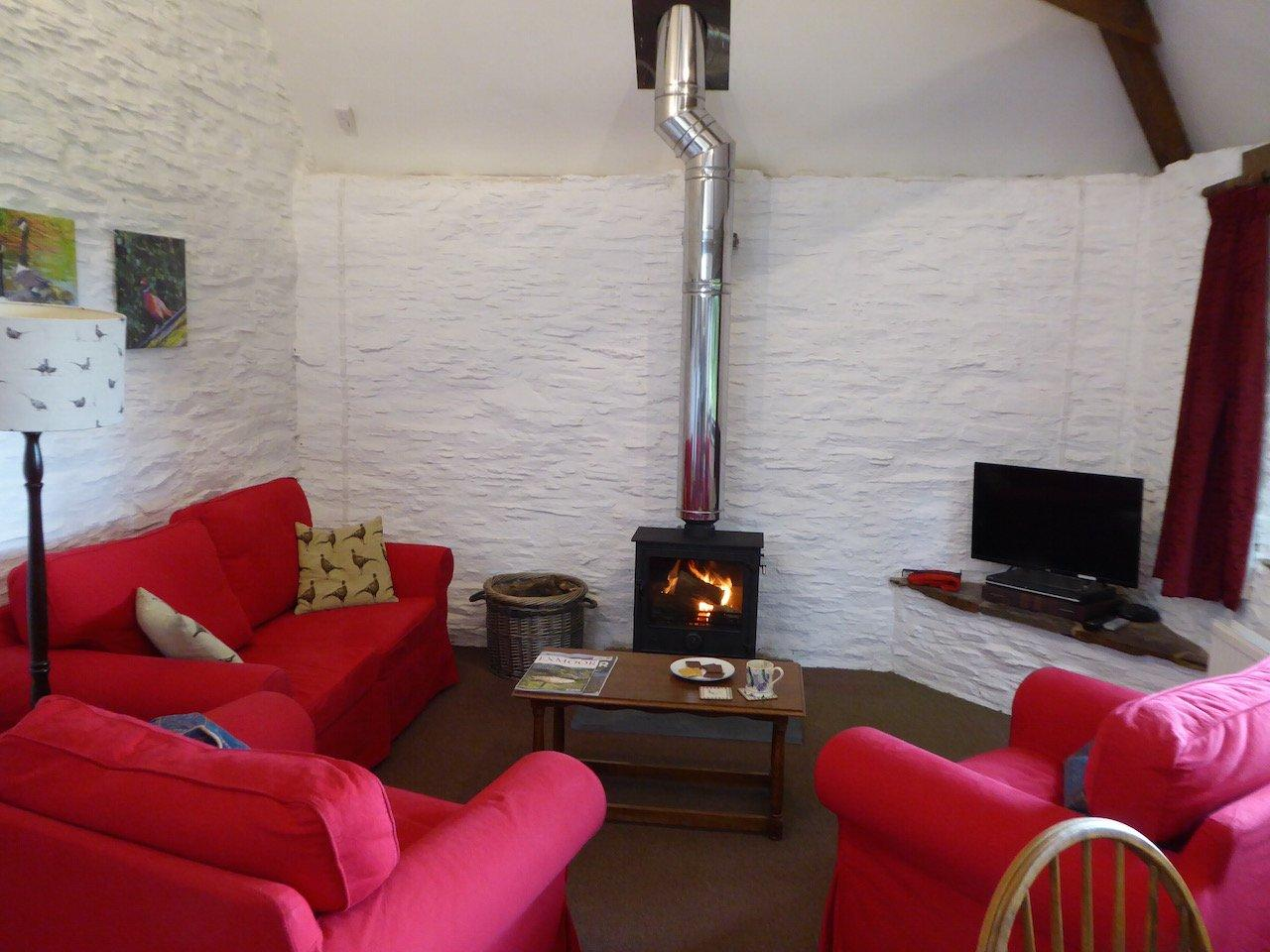 Seating Area with Wood Burning Stove