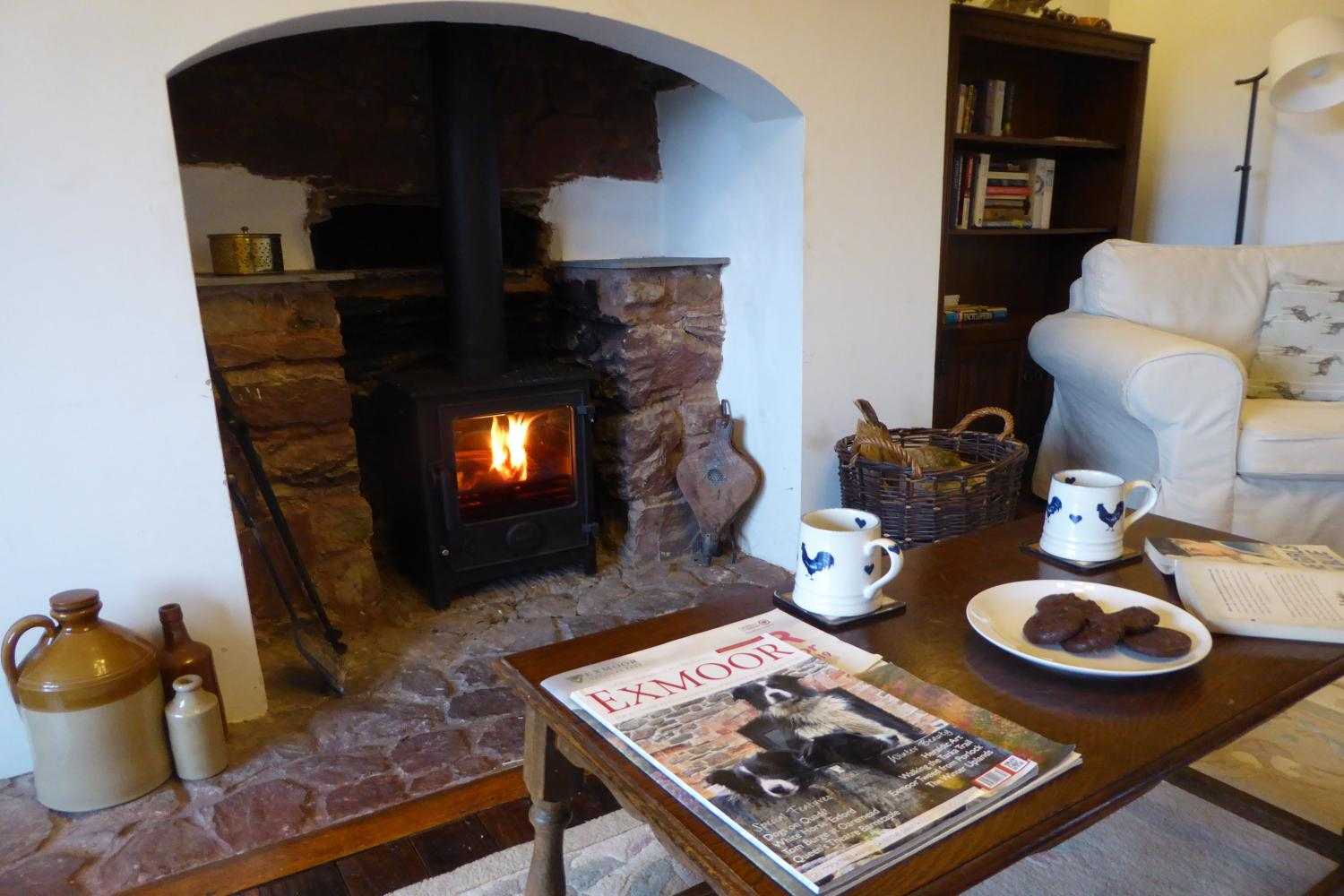 Come home to a cup of tea and a warm fire
