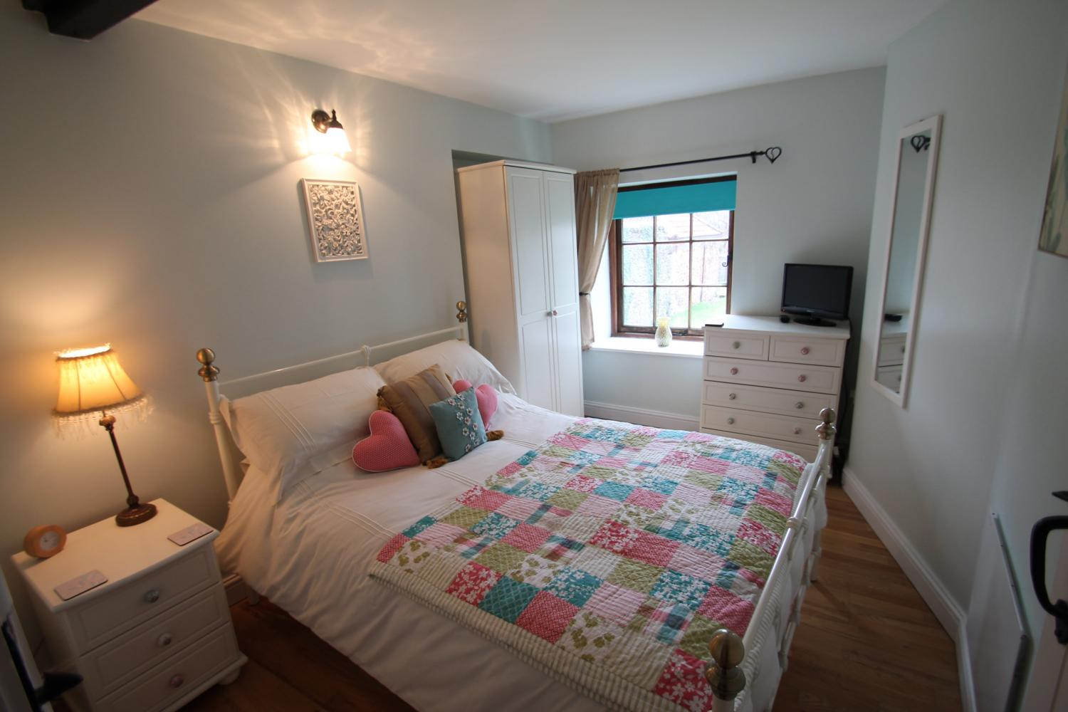 Double bedroom at Porlock Hideaway Detail