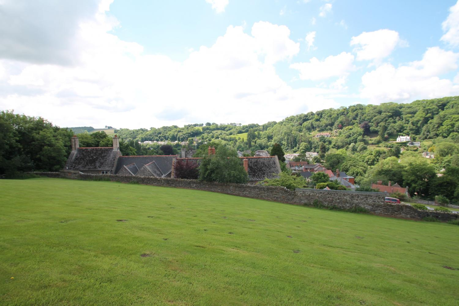 Shared garden with views over Dulverton