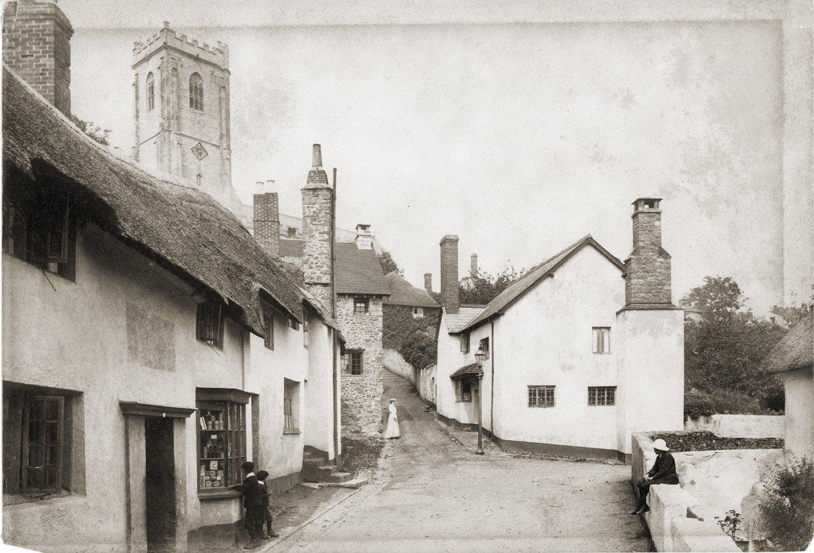 A view of the area at the turn of the century.