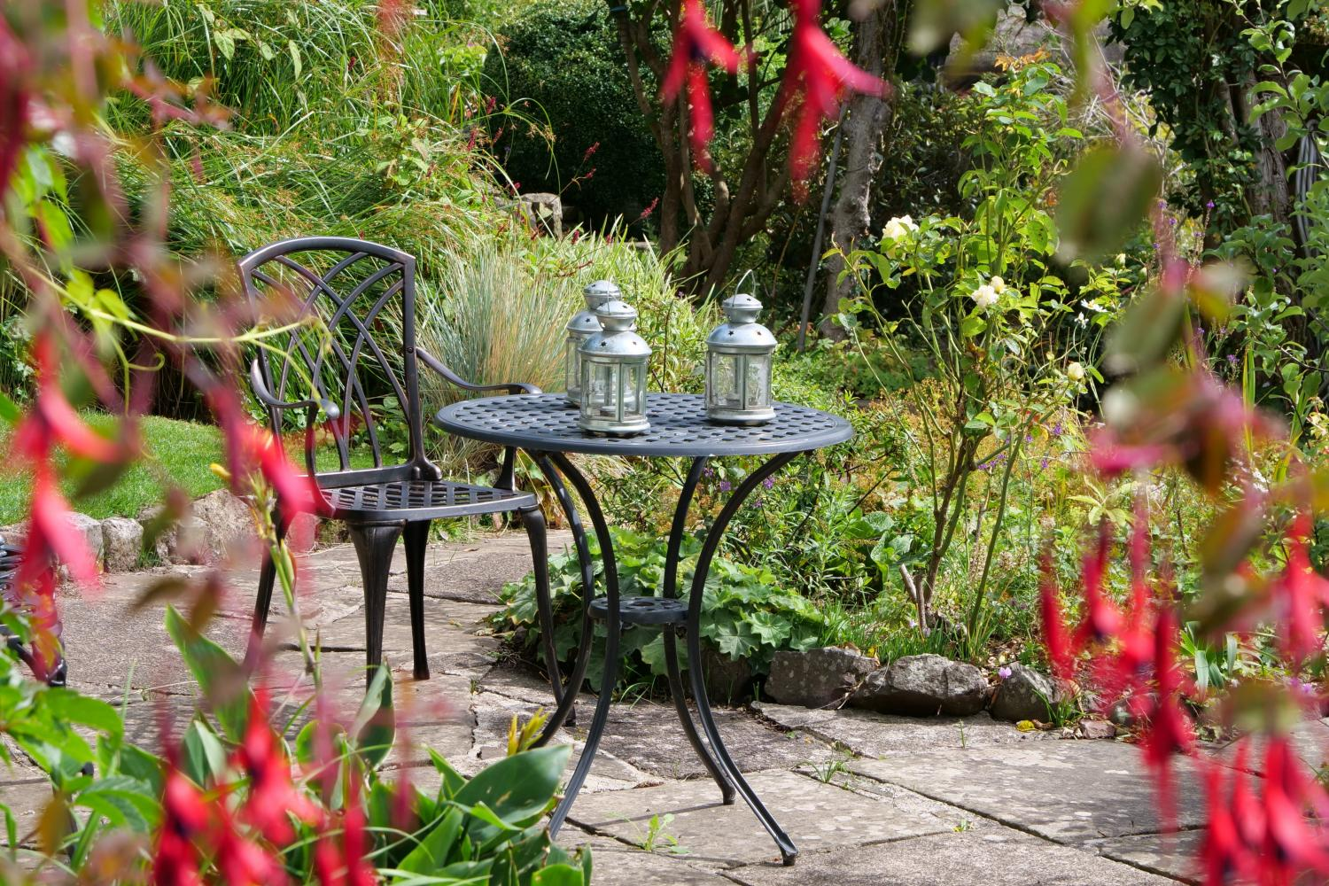 Take a seat in the garden and relax