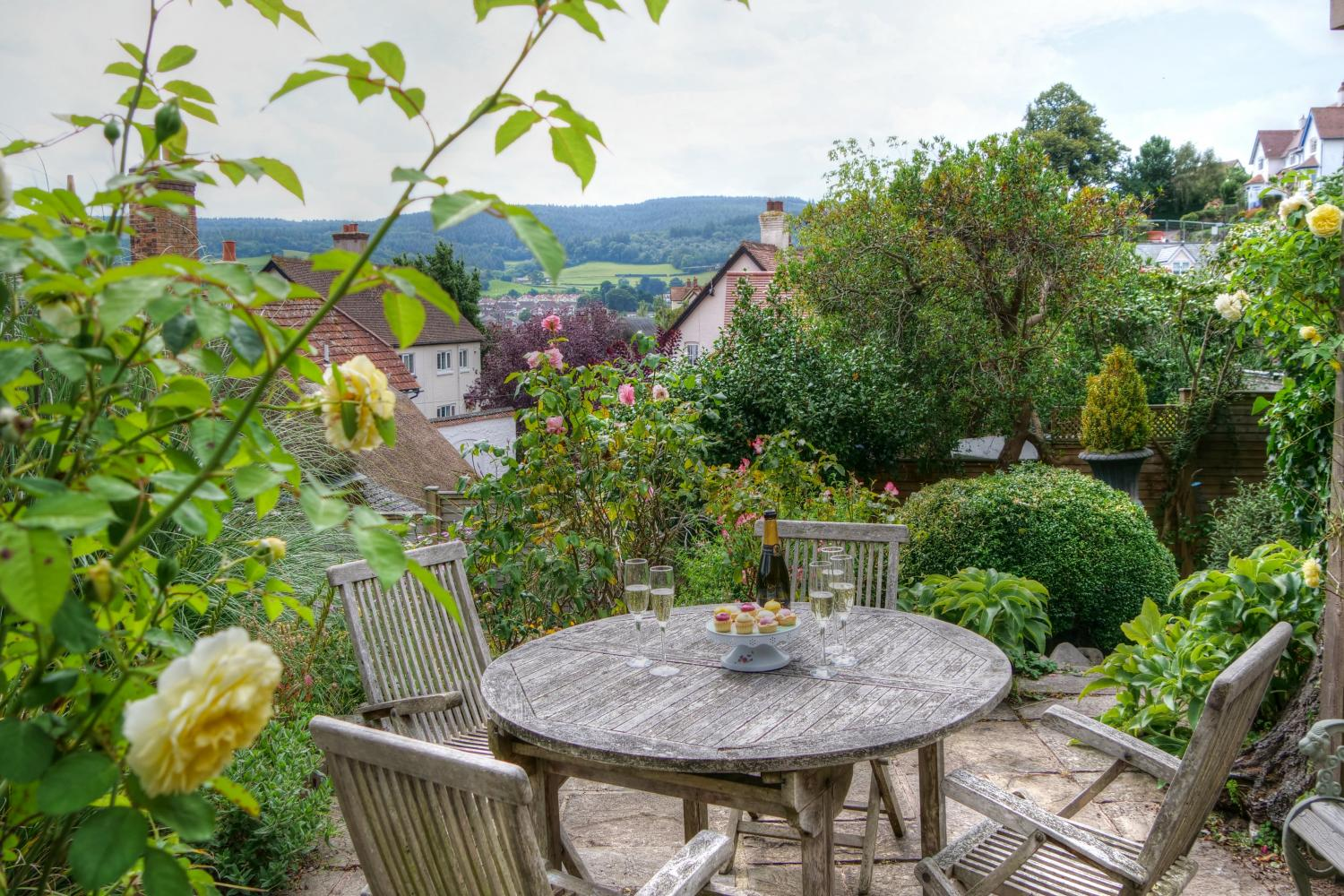 Enjoy a distant view to Exmoor