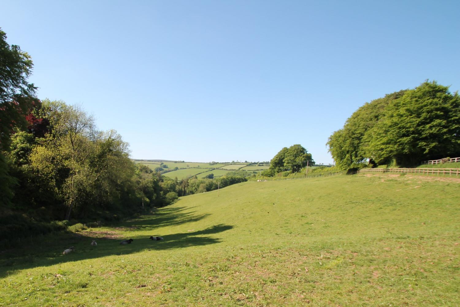 View across the fields from Stable Cottage