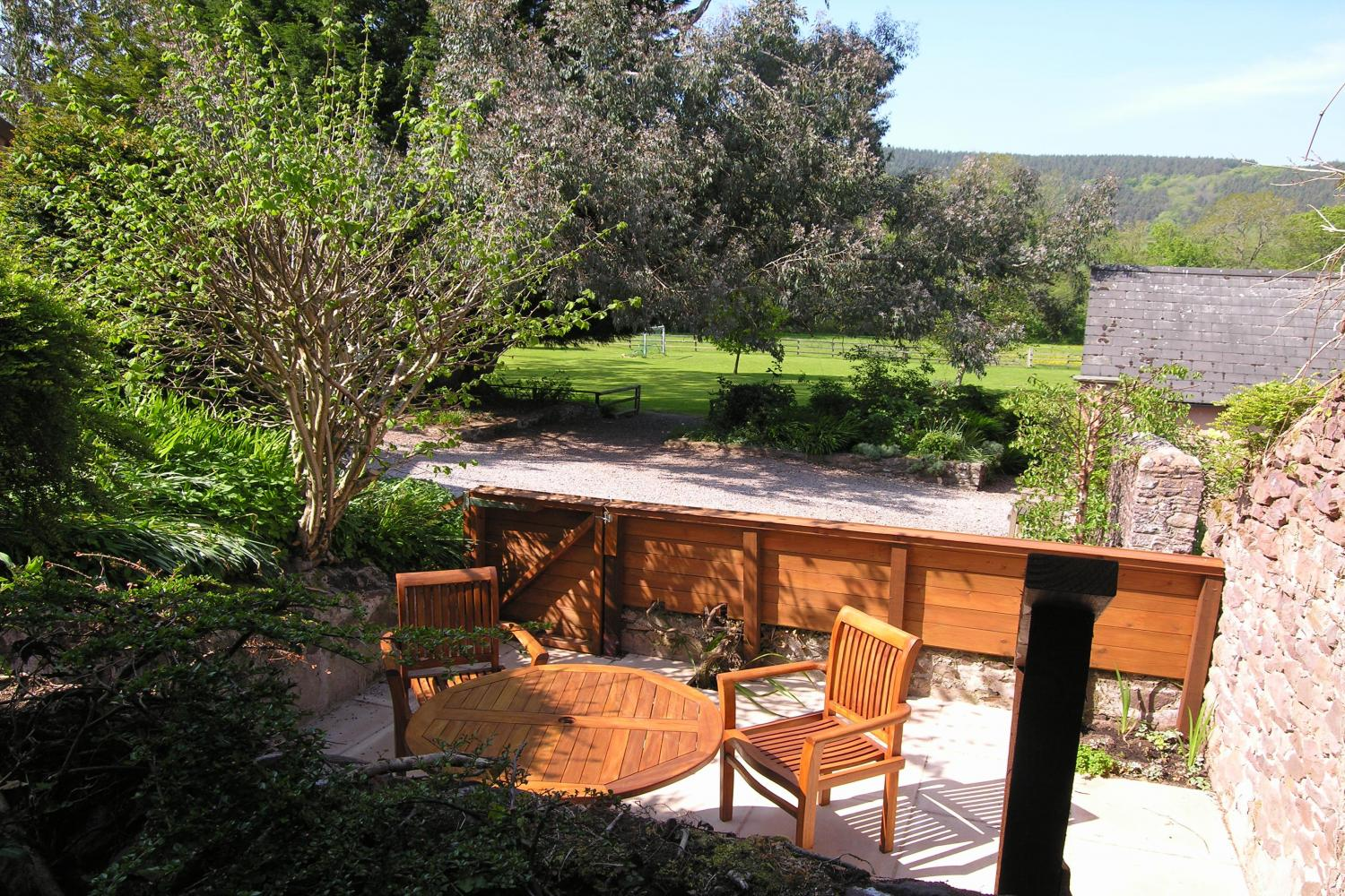 Cleeve Patio & view across_The_Avill_Valley