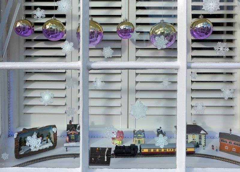 A Christmas window display