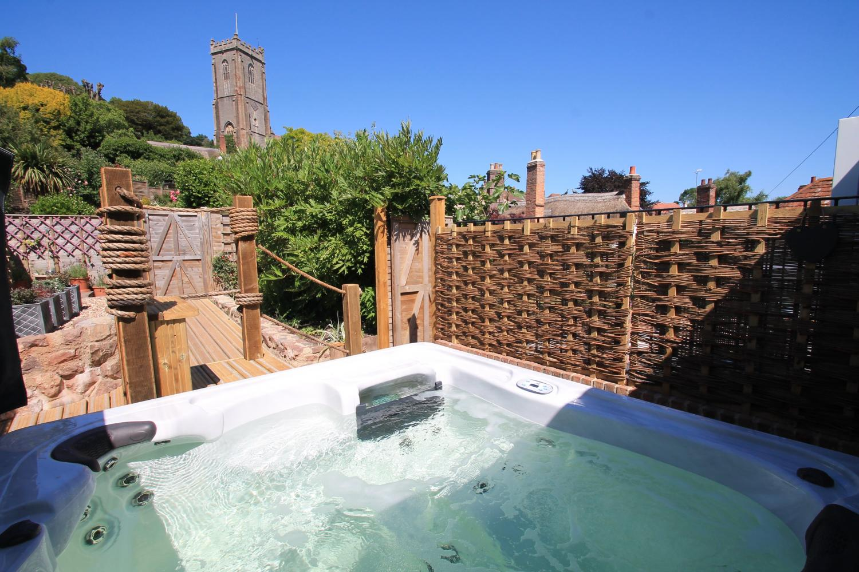 Private hot tub at Stone Barn