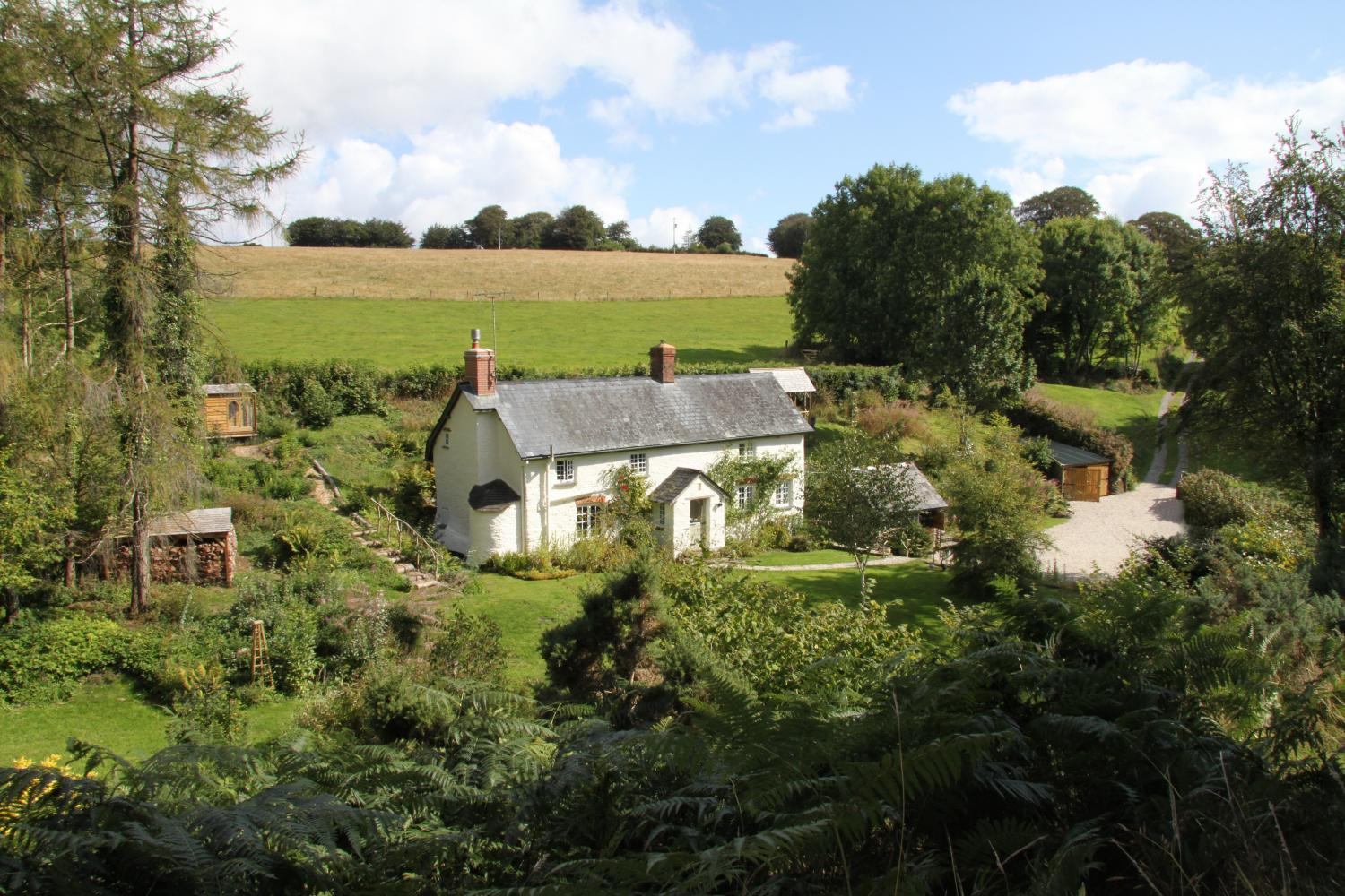 Lower Goosemoor Cottage set in a secluded private valley