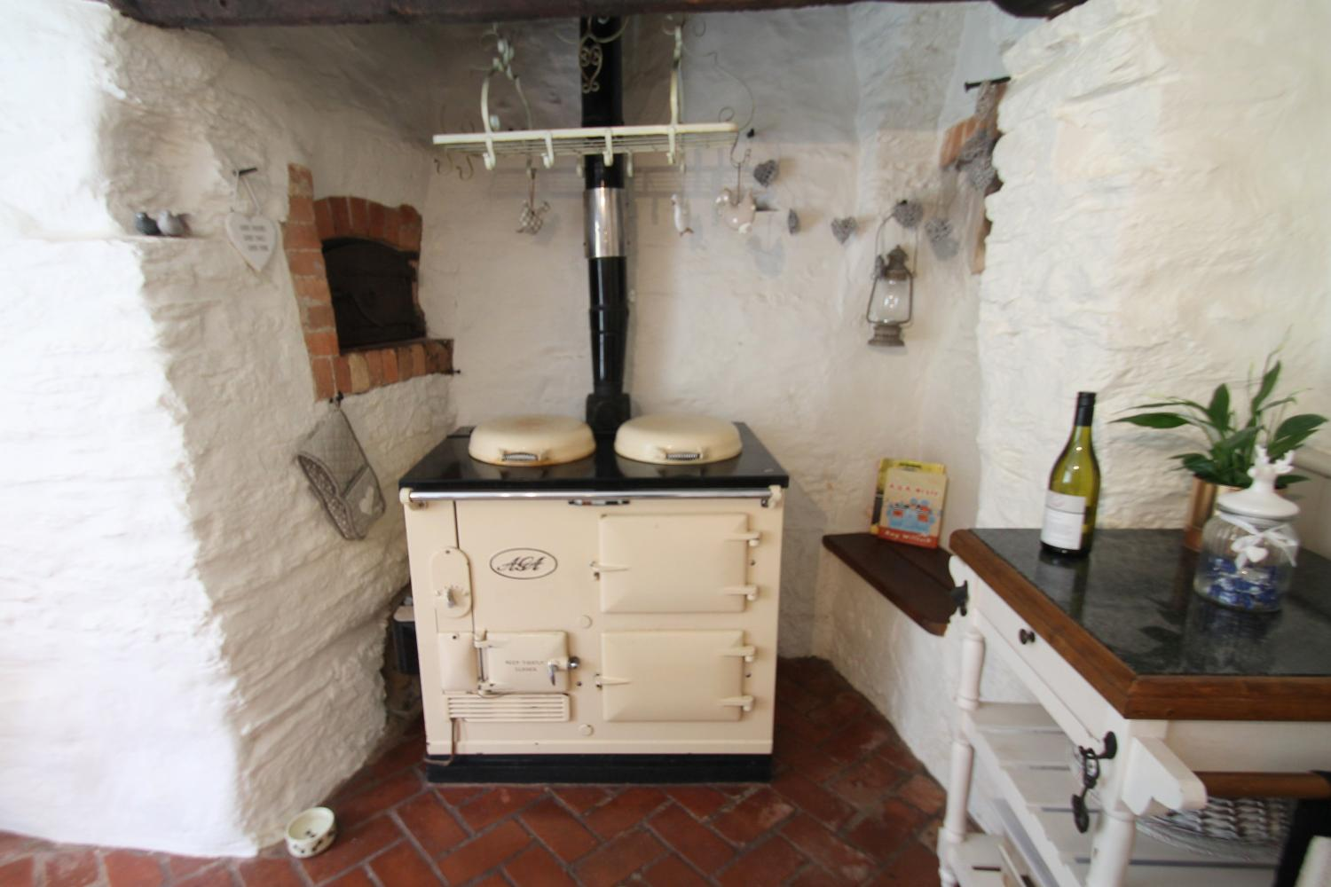 Easy cooking with the vintage oil fired Aga.