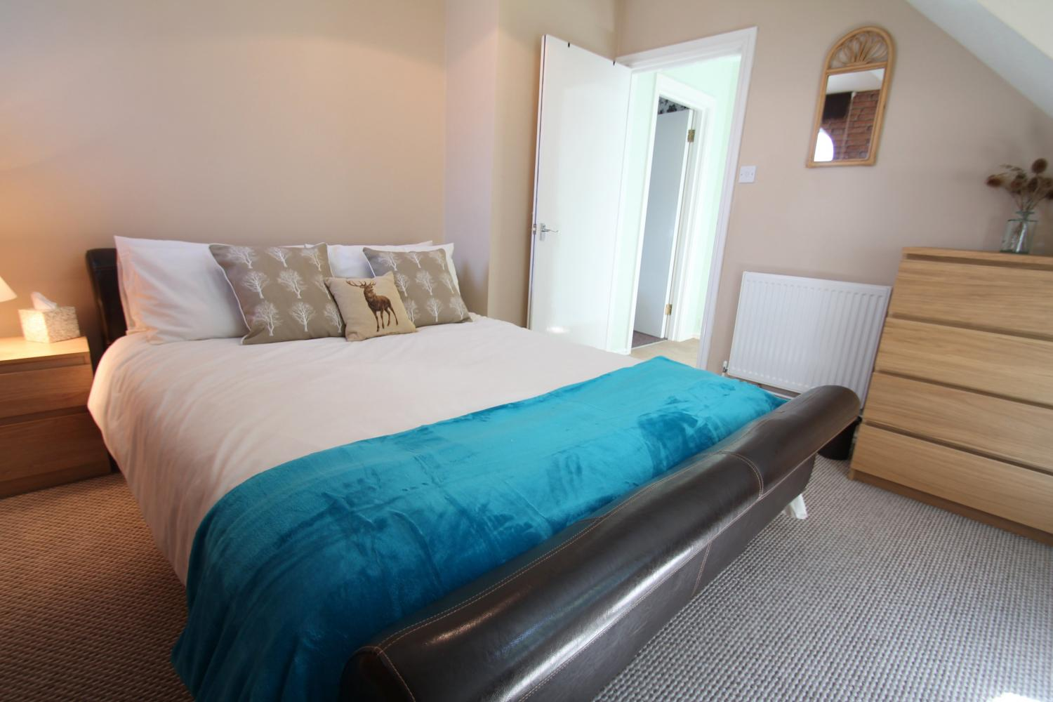 One of the double bedrooms at Seagulls Rest