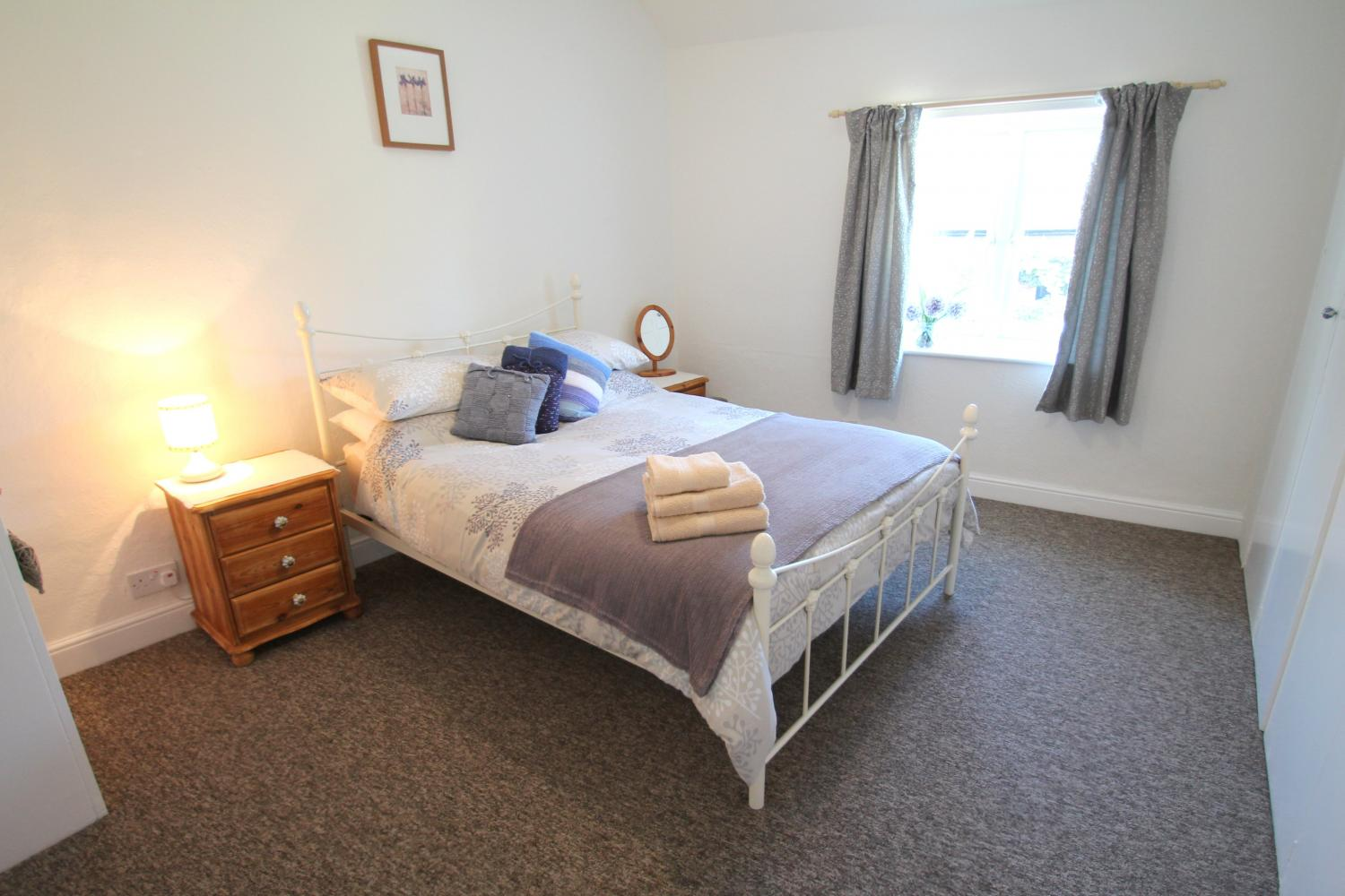 Spacious double bedroom at Gazebo Cottage
