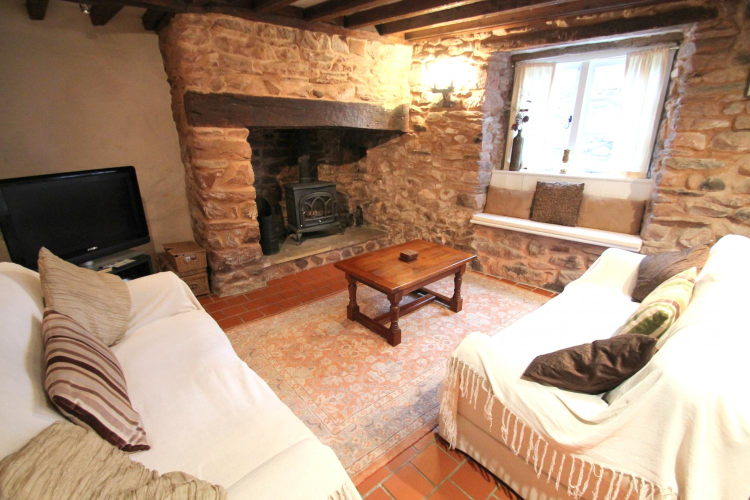 Yew Tree Cottage with wood-burner