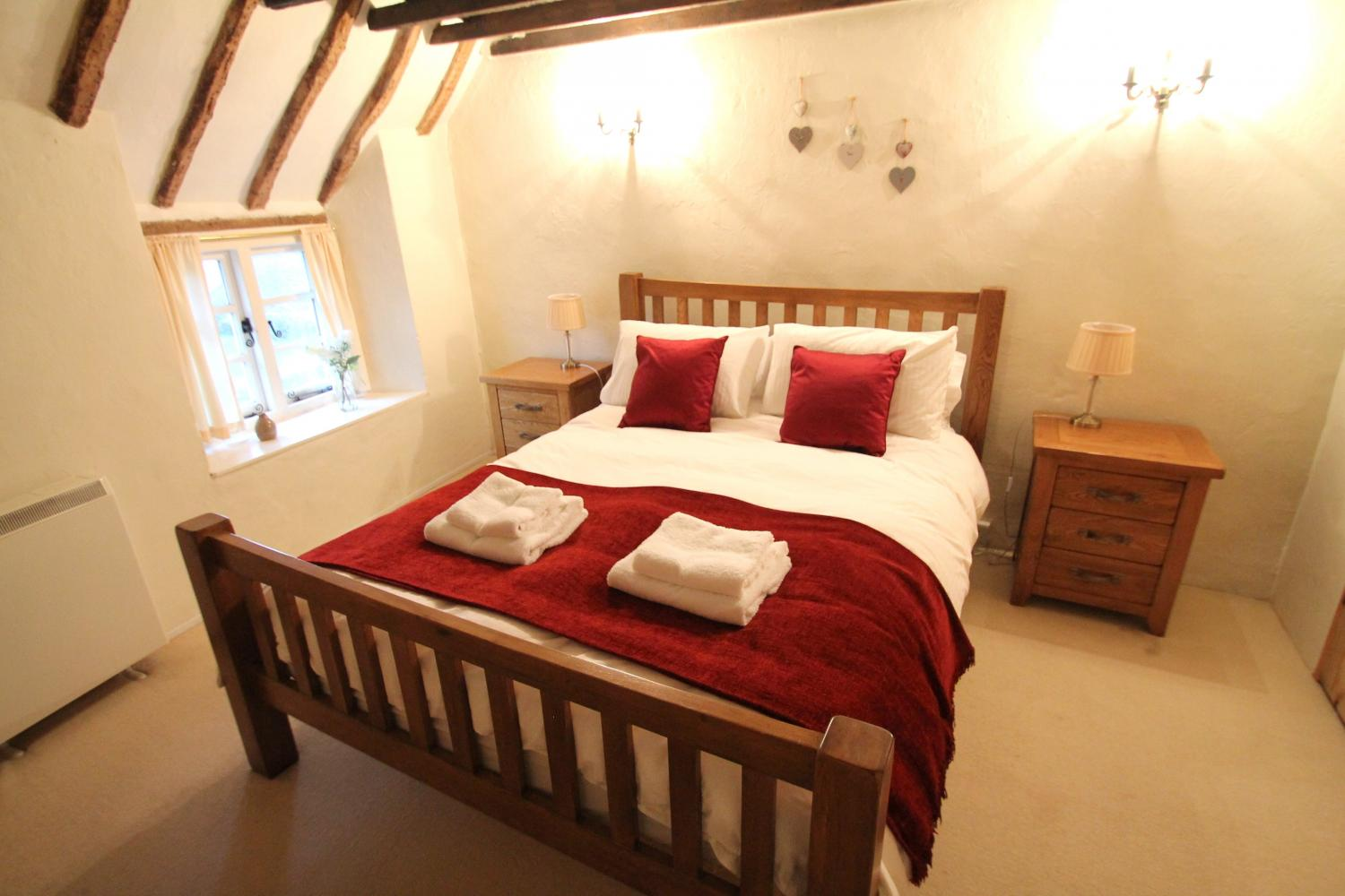 Master bedroom at Yew Tree Cottage