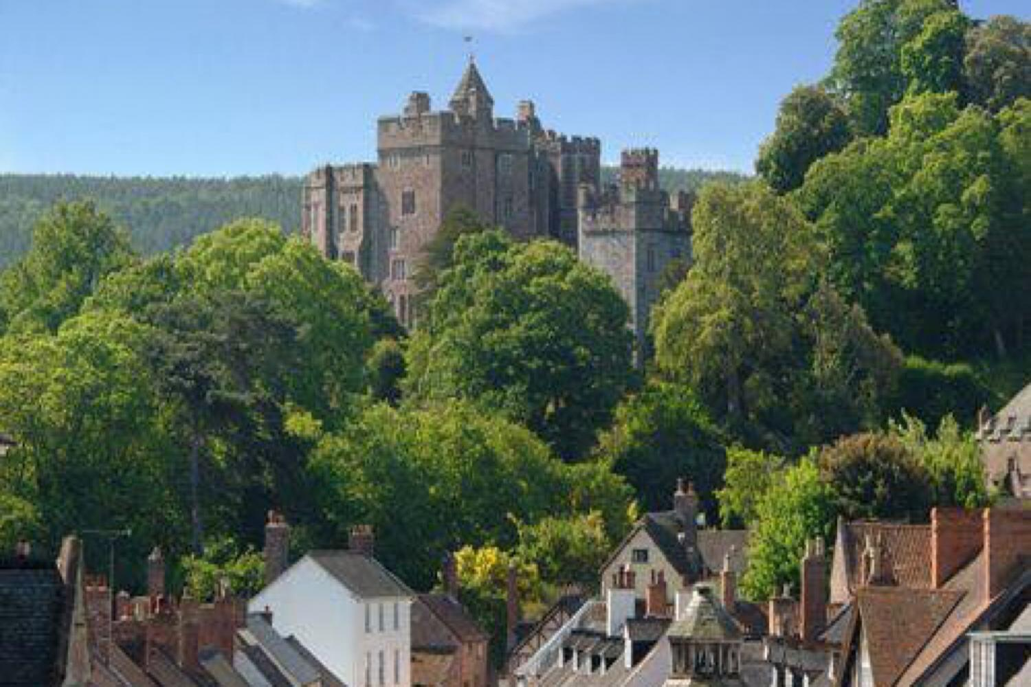 Dunster Castle from the High Street