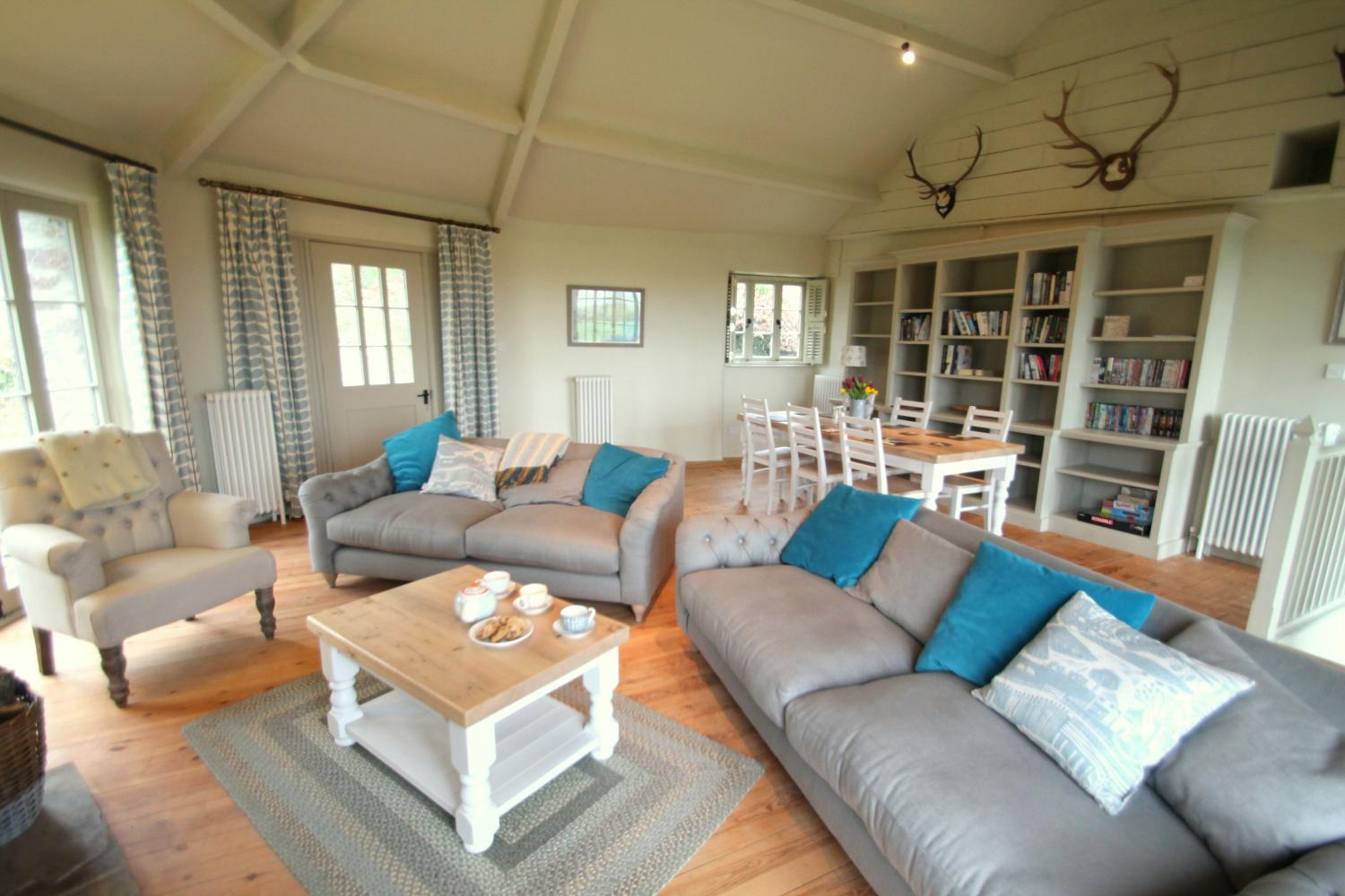 The Roundhouse living room is well stocked with books, games and DVDs for you to enjoy during your stay.
