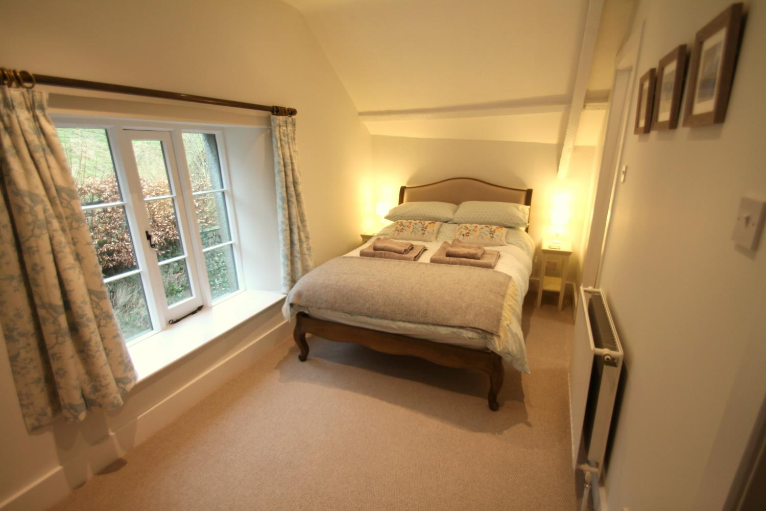 The upstairs double bedroom with en-suite.