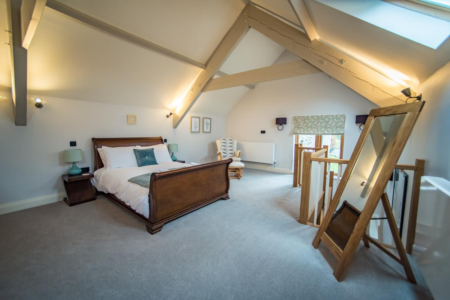 The Cow Shed spacious luxury bedroom