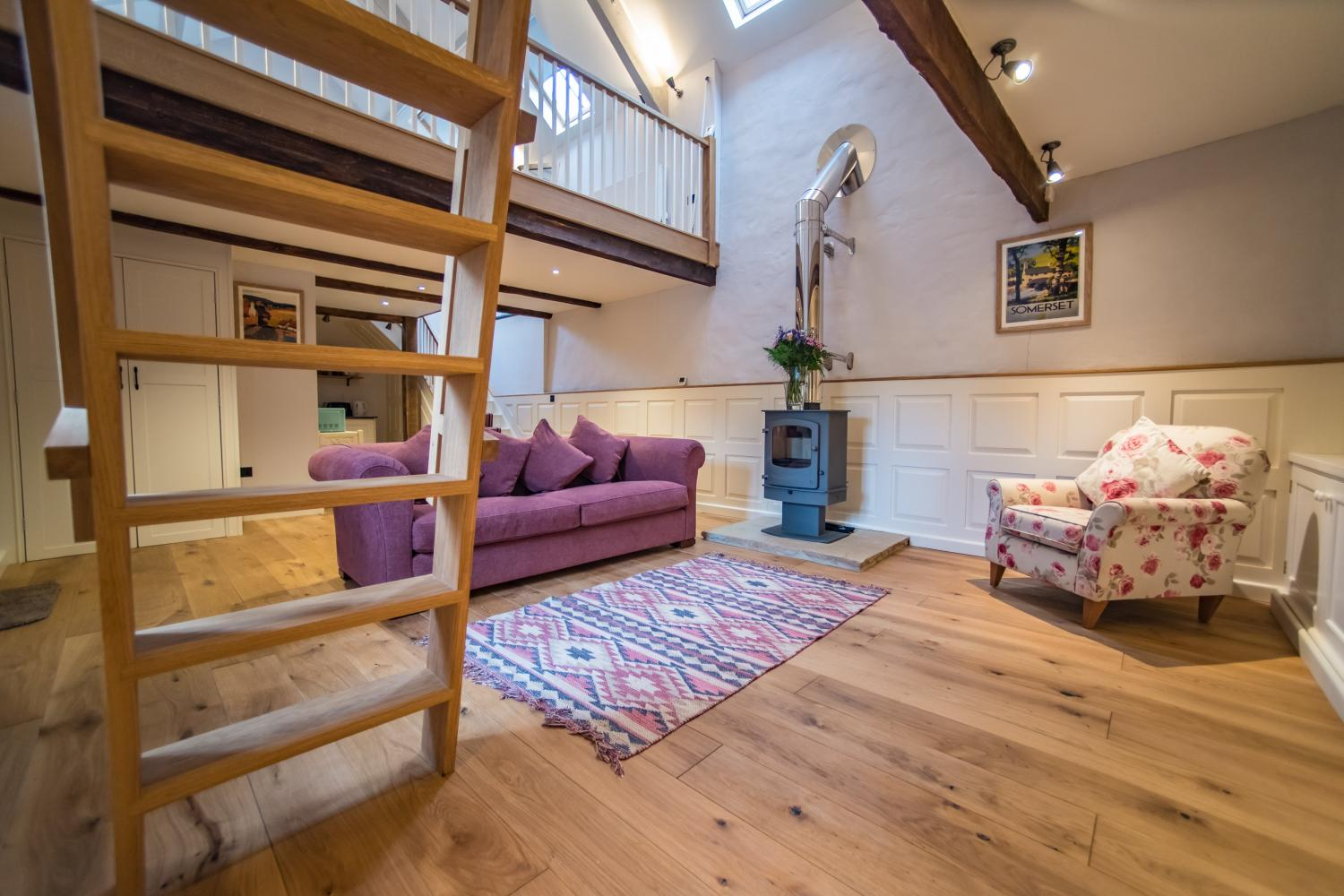 The Cow Shed spacious but cosy living room
