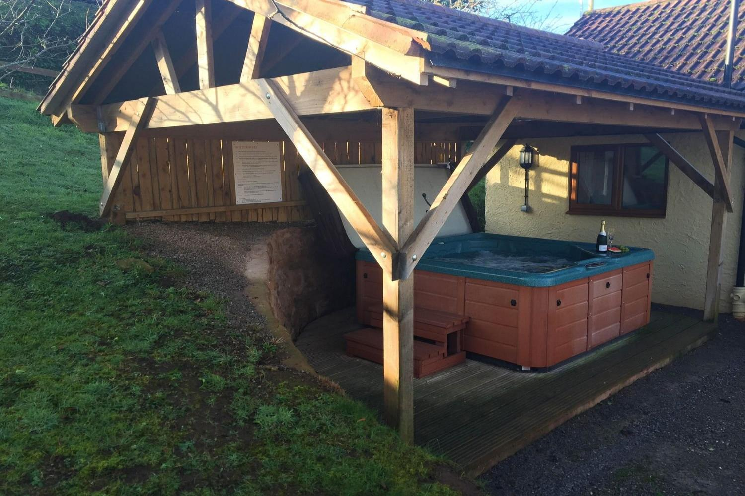With private hot tub!