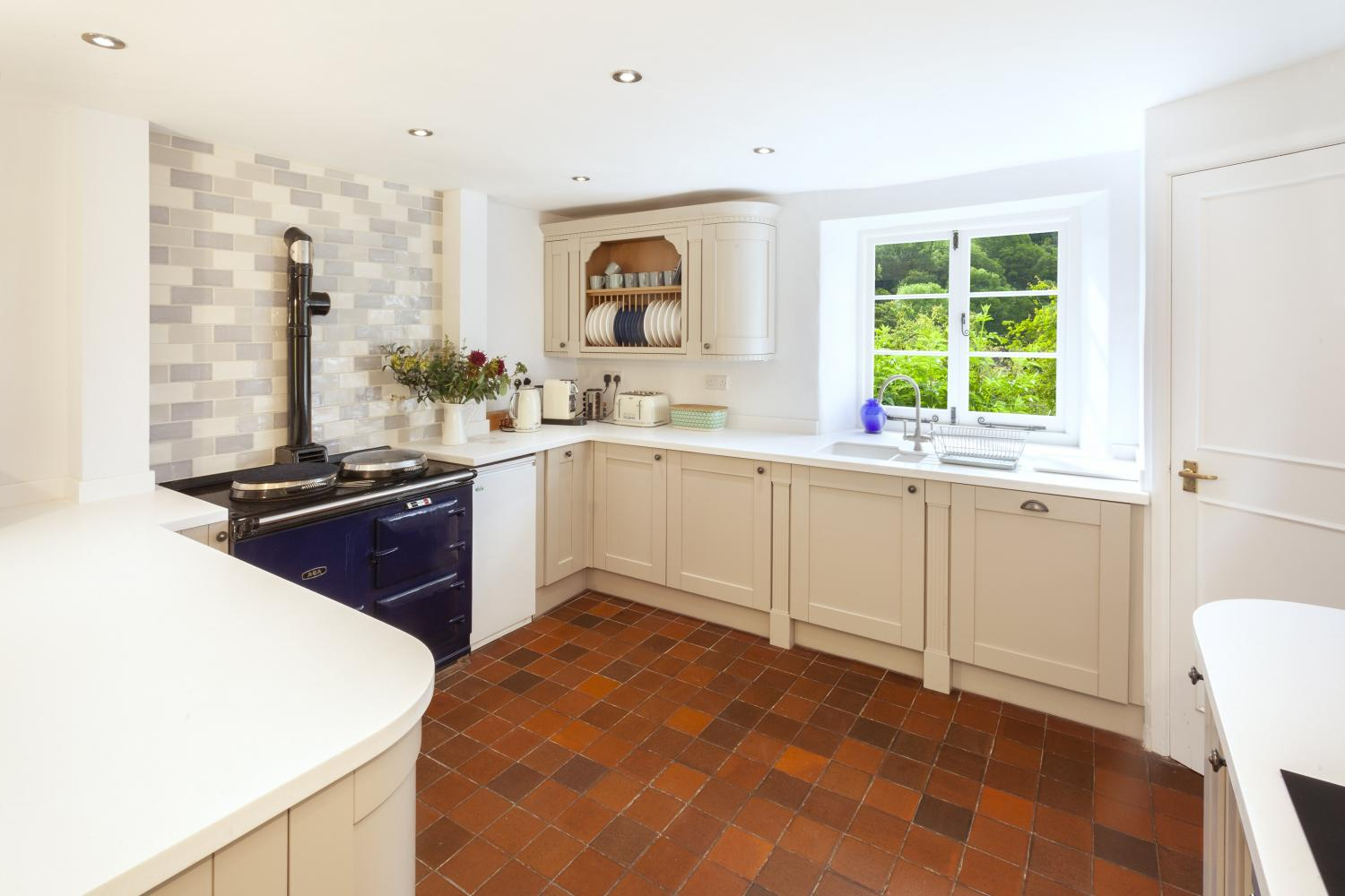 Kitchen with Aga (plus electric oven)