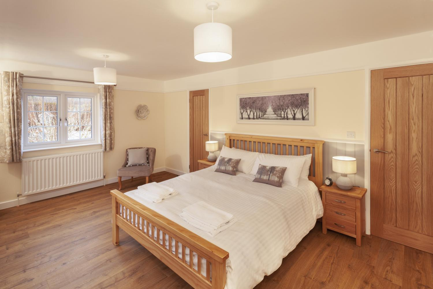 Spacious double bedroom at Barn Cottage